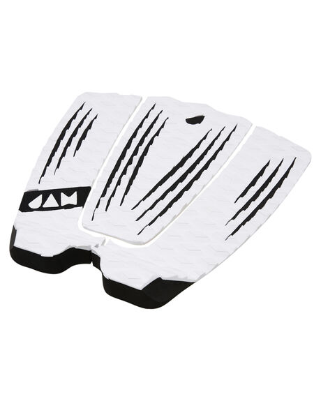WHITE BOARDSPORTS SURF JAM TRACTION TAILPADS - TPR3PWHT
