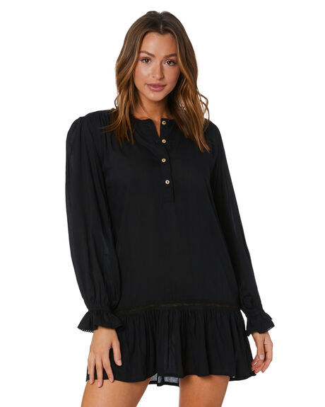 BLACK WOMENS CLOTHING LILYA DRESSES - LS20-D04-RVBLK
