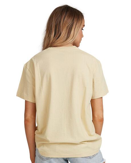 REED YELLOW WOMENS CLOTHING BILLABONG TEES - BB-6507019-RYW