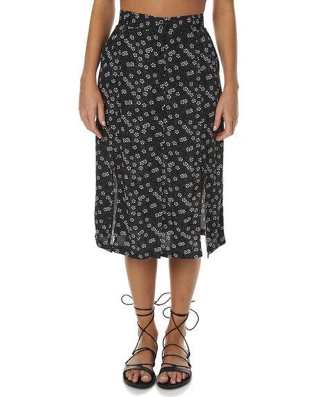 BLACK WOMENS CLOTHING RVCA SKIRTS - R262831ABLK