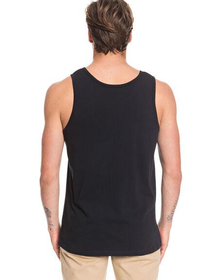BLACK MENS CLOTHING QUIKSILVER SINGLETS - EQYZT05682-KVJ0
