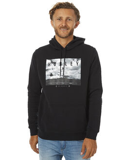 BLACK MENS CLOTHING HURLEY JUMPERS - AMFLHRZP
