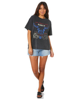 BLACK WOMENS CLOTHING ALL ABOUT EVE TEES - 6446190BLK
