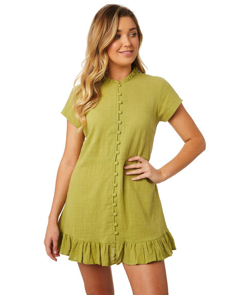 LIME WOMENS CLOTHING THE BARE ROAD DRESSES - 992041-02LIM