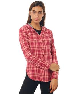 PLUM WOMENS CLOTHING HURLEY FASHION TOPS - AGLS3WLPLM