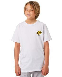 WHITE KIDS BOYS RUSTY TOPS - TTB0655WHT