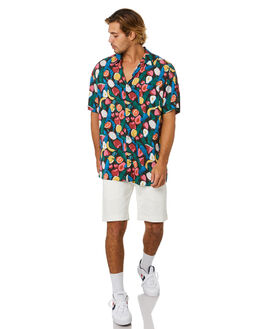 BLACK FRUITS MENS CLOTHING BARNEY COOLS SHIRTS - 302-Q120BKFRT