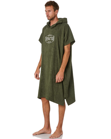 OLIVE MENS ACCESSORIES DEPACTUS TOWELS - D52021803OLIVE