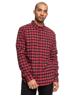 RACING RED MENS CLOTHING DC SHOES SHIRTS - EDYWT03208-RQR2