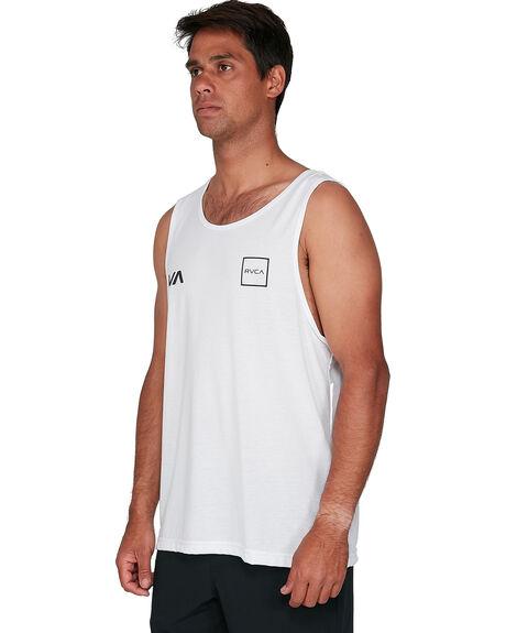WHITE MENS CLOTHING RVCA SINGLETS - RV-R307002-WHT