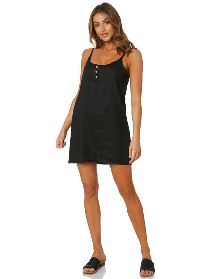 BLACK WOMENS CLOTHING NUDE LUCY DRESSES - NU23973BLK