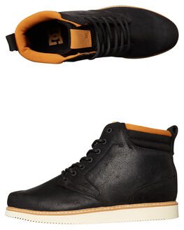 BLACK MENS FOOTWEAR DC SHOES BOOTS - ADYB700011BL0