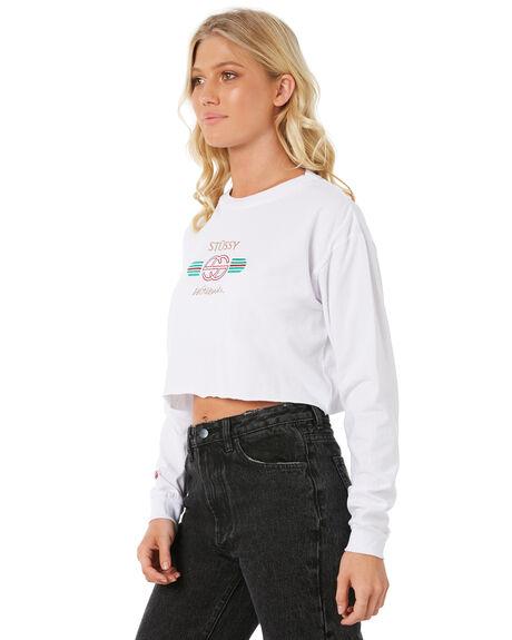WHITE WOMENS CLOTHING STUSSY TEES - ST185006WHT