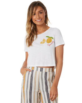 WHITE WOMENS CLOTHING TIGERLILY TEES - T382000WHT