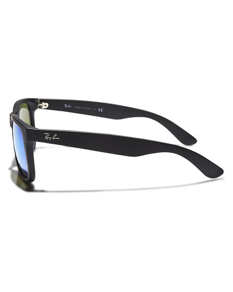 BLACK RUBBER GREEN MENS ACCESSORIES RAY-BAN SUNGLASSES - 0RB41655562255