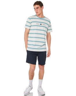 AQUA STRIPE MENS CLOTHING BARNEY COOLS TEES - 115-CR4AQSTR