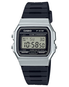 BLACK SILVER MENS ACCESSORIES CASIO WATCHES - F91WM-7ABLKSV