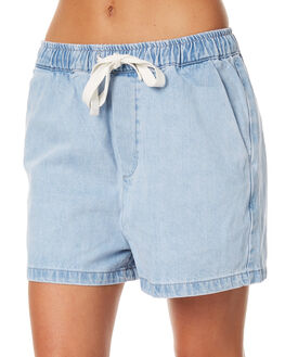 SEA BLUE WOMENS CLOTHING ASSEMBLY SHORTS - AW-S1729SEA