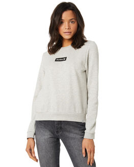 HEATHER GREY WOMENS CLOTHING HURLEY JUMPERS - AGFLSBOX050