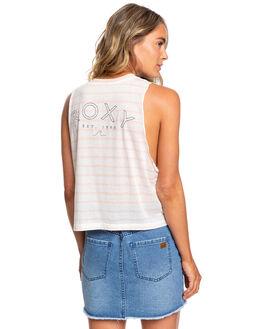 EVENING SAND WOMENS CLOTHING ROXY SINGLETS - ERJZT04783-MEZ4