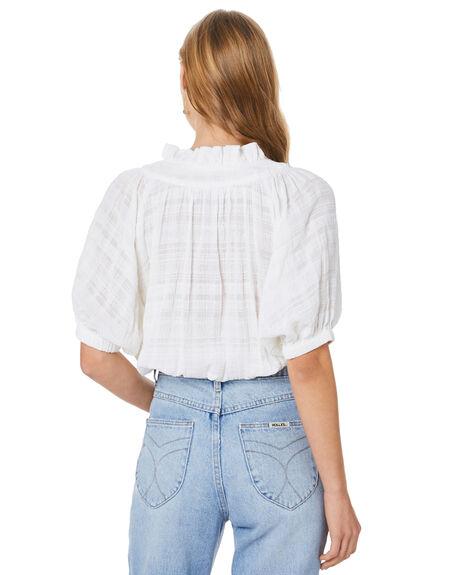 WHITE WOMENS CLOTHING MLM LABEL FASHION TOPS - MLM750AWHT