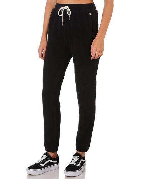 BLACK WOMENS CLOTHING VOLCOM PANTS - B1111801BLK