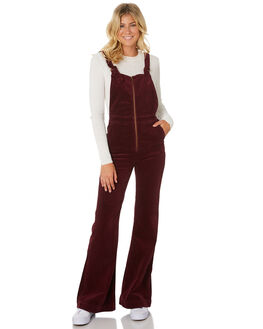 BORDEAUX CORD WOMENS CLOTHING ROLLAS PLAYSUITS + OVERALLS - 12902-4342
