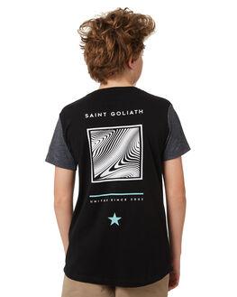 BLACK KIDS BOYS ST GOLIATH TEES - 2420010BLK