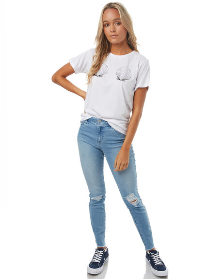 WHITE WOMENS CLOTHING TEE INK TEES - CAST0022WHT