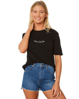 BLACK WOMENS CLOTHING AFENDS TEES - W184002BLK