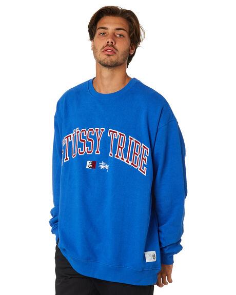 ROYAL BLUE MENS CLOTHING STUSSY JUMPERS - ST095206RYBLU