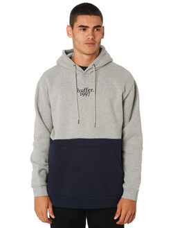 GREY MARLE NAVY MENS CLOTHING HUFFER JUMPERS - MHD91S3101GRY