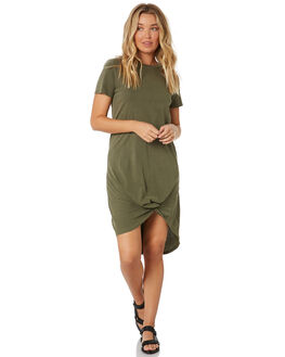 KHAKI WOMENS CLOTHING SILENT THEORY DRESSES - 6008016KHAKI