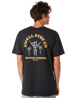 BLACK MENS CLOTHING SWELL TEES - S5201034BLACK
