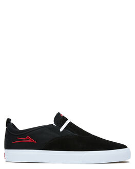 BLACK RED SUEDE MENS FOOTWEAR LAKAI SNEAKERS - MS1200091A00-BKRES