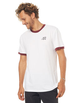 WHITE MENS CLOTHING BRIXTON TEES - 02358WHT