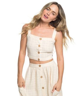 IVORY CREAM WOMENS CLOTHING ROXY FASHION TOPS - ERJWT03316-TFM0