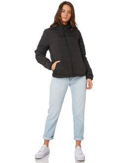 BLACK WOMENS CLOTHING BILLABONG JACKETS - 6595896BLK