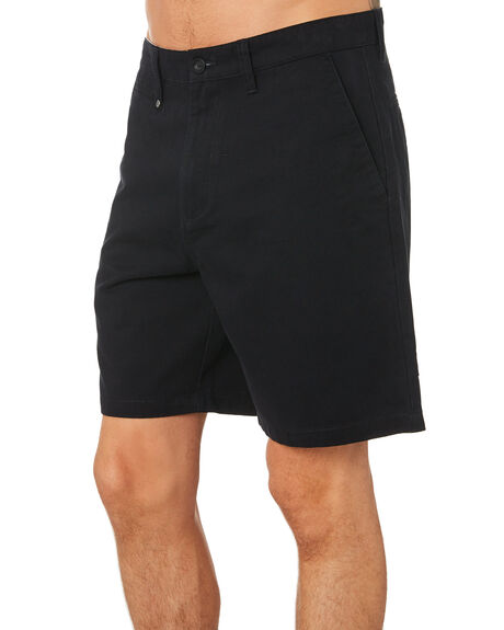 BLACK MENS CLOTHING THRILLS SHORTS - TH9-316BBLK