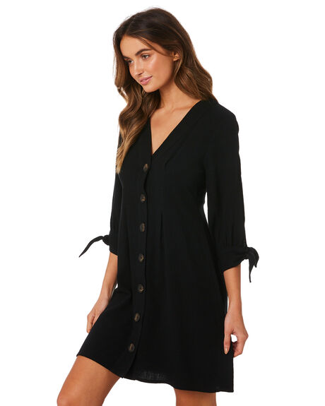 BLACK WOMENS CLOTHING MINKPINK DRESSES - MP1809550BLK