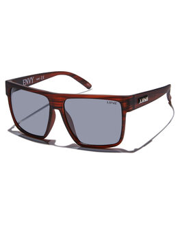 BLACK WOOD RUBBER MENS ACCESSORIES LIIVE VISION SUNGLASSES - L0624ABLKWR