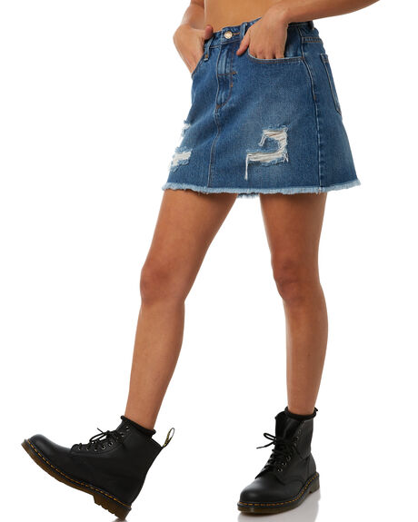 VINTAGE BLUE WOMENS CLOTHING THRILLS SKIRTS - WTDP-316VEVIN