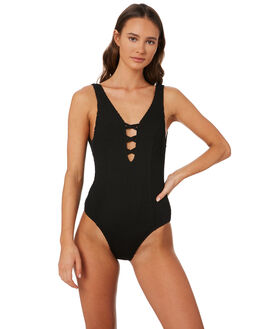 BLACK WOMENS SWIMWEAR SWELL ONE PIECES - S8201336BLACK