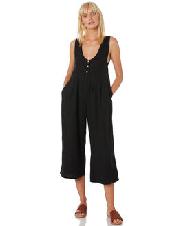 WASHED BLACK WOMENS CLOTHING THRILLS PLAYSUITS + OVERALLS - WTH9-905BWBLK