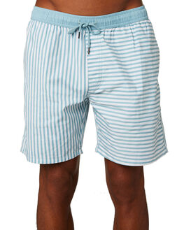 TURQUOISE MENS CLOTHING NO NEWS BOARDSHORTS - N5202232TURQ