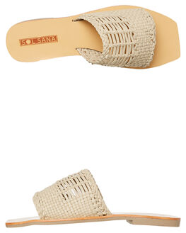 BIRCH WOMENS FOOTWEAR SOL SANA SLIDES - SS191S332BIRCH