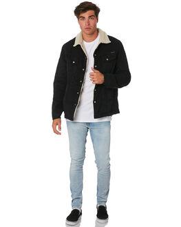 WORN BLACK MENS CLOTHING NUDIE JEANS CO JACKETS - 160655WNBLK
