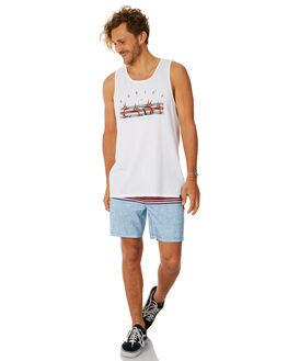 WHITE MENS CLOTHING HURLEY SINGLETS - AO8830100