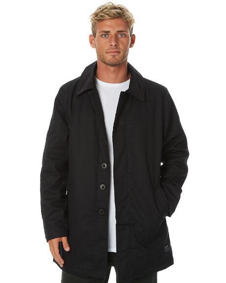 BLACK MENS CLOTHING AFENDS JACKETS - 07-01-059BLK