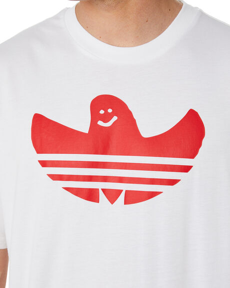 WHITE MENS CLOTHING ADIDAS TEES - GD3107WHT
